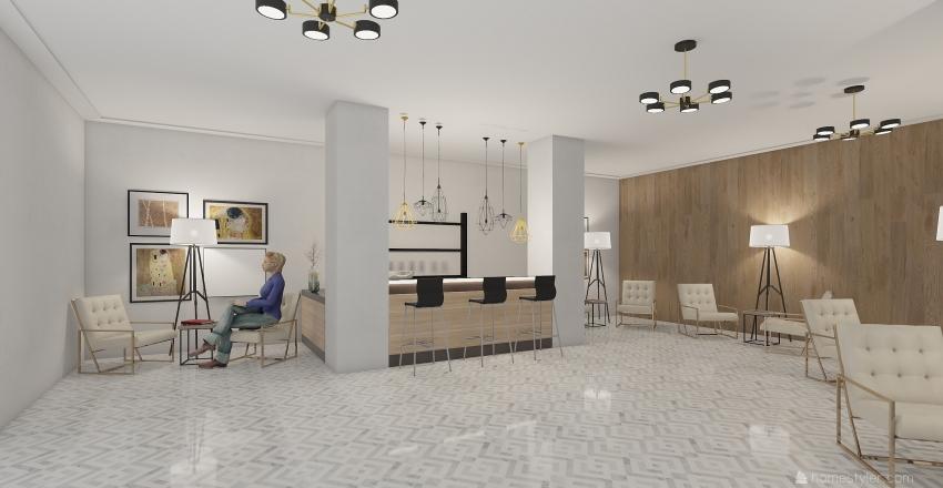 холл Interior Design Render