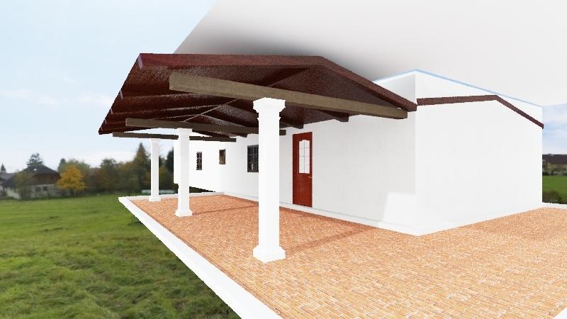 casa-1 + 2 - versao uma casa - com terraço Interior Design Render