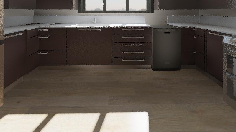 8 Daniel vilano U- shape kitchen  Interior Design Render