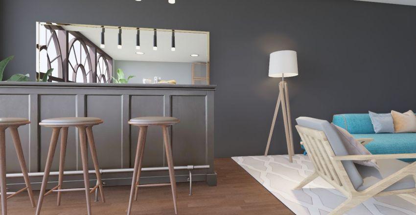 Classical Living room Interior Design Render
