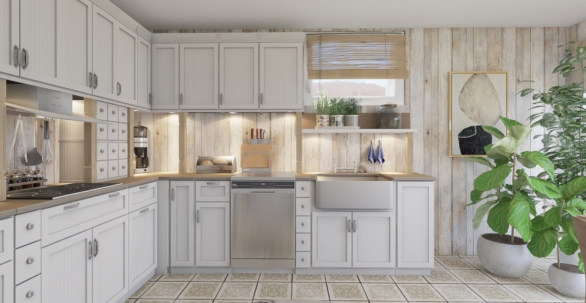 6 smaller kitchen Interior Design Render