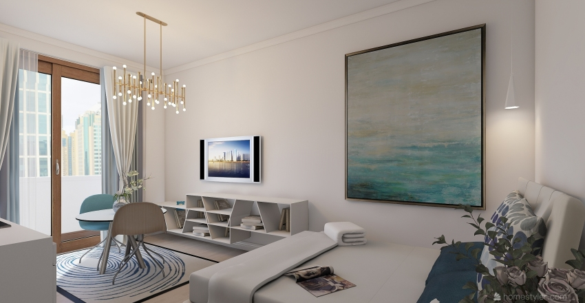 garsoniera Interior Design Render