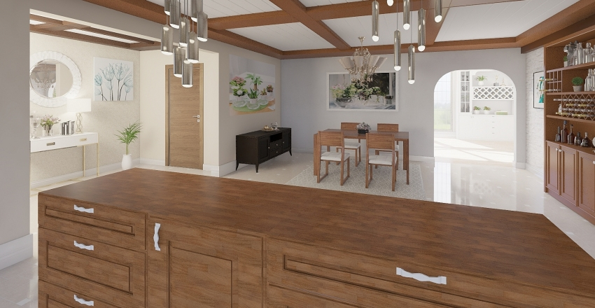 BEAUTIFUL AND COOL HOUSE Interior Design Render