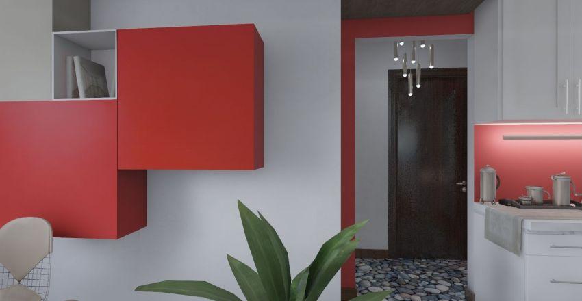 Διαμπερές διαμέρισμα στην Αθήνα (bright appartment) Interior Design Render