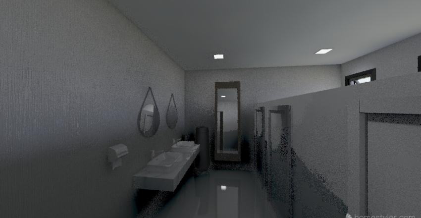 Baños Publicos Interior Design Render