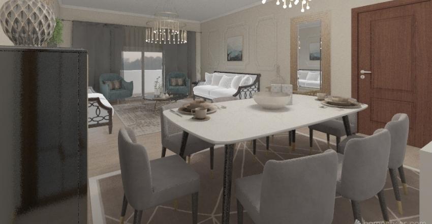 my reception Interior Design Render