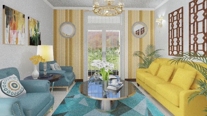 Sala Acojedora Interior Design Render