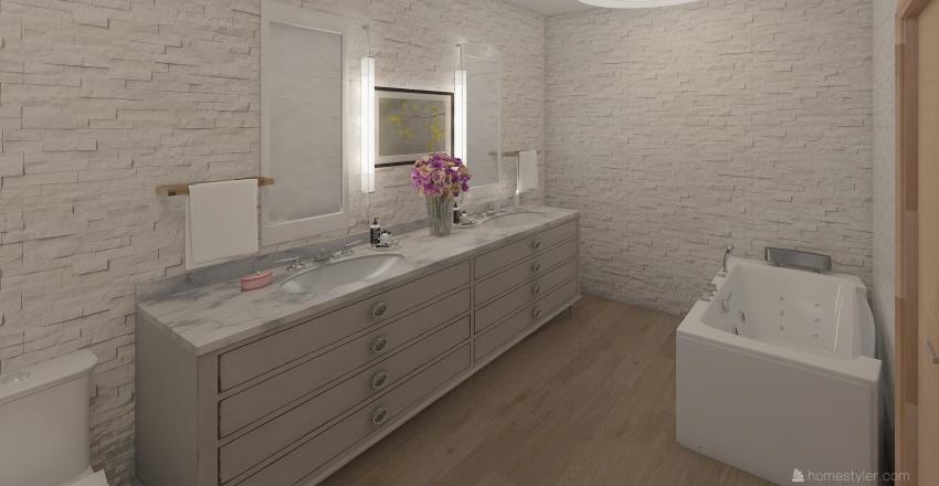 Modern Country House Interior Design Render