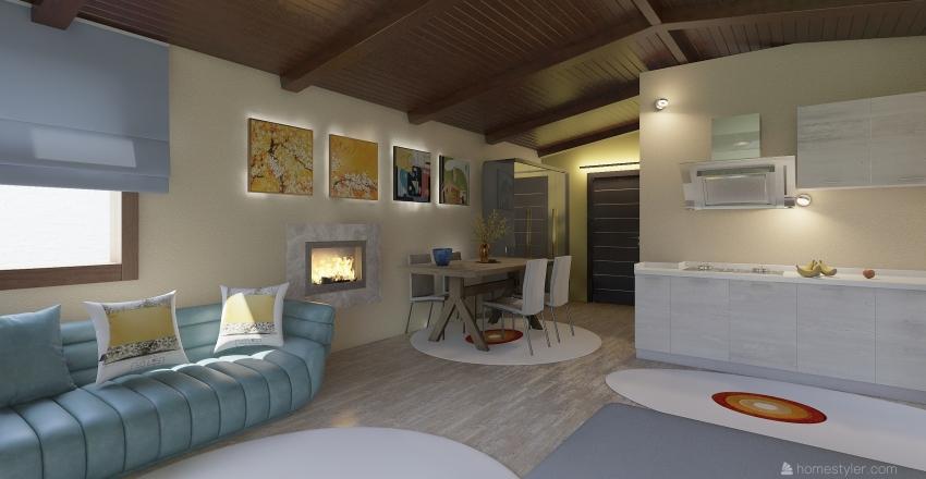 chalet Fotini 3 Interior Design Render
