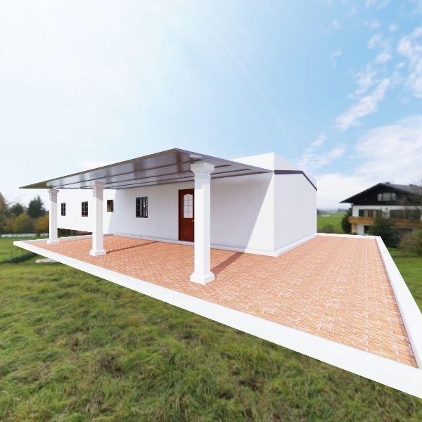casa-1 + 2 - versao uma casa - terraço coberto Interior Design Render