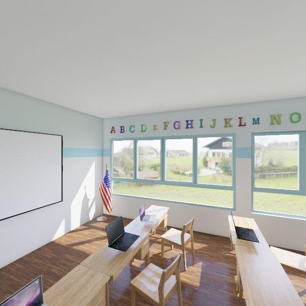 Spanish Classroom Interior Design Render