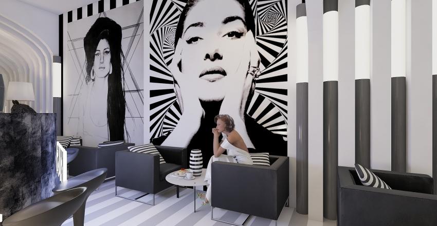 MusicBar Zebra Interior Design Render