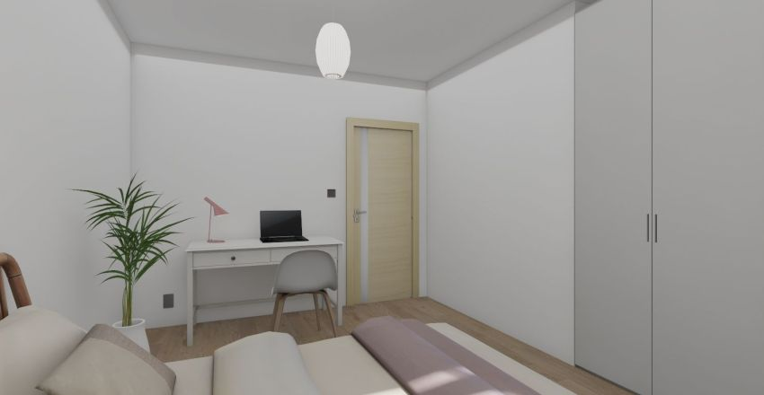 Domek parterowy na wsi Interior Design Render