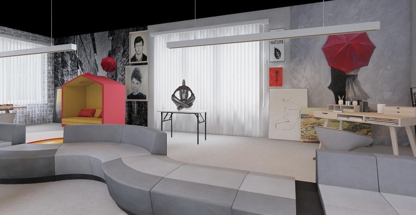 LOFT CON RESIDENZA E STUDIO Interior Design Render