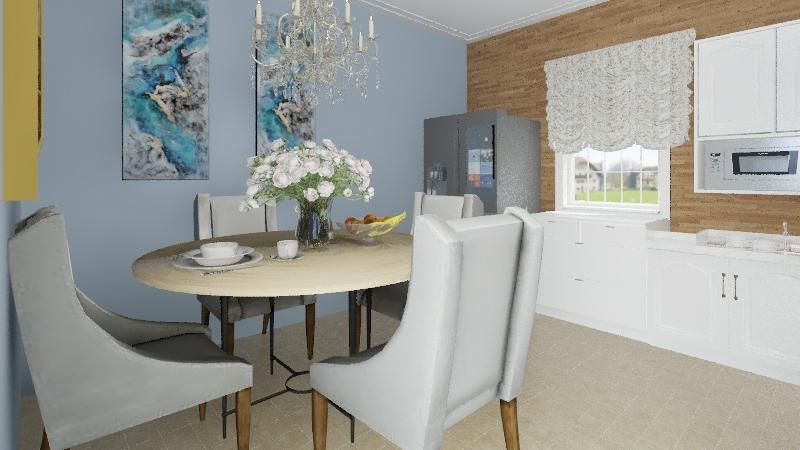Cocina comedor informal Interior Design Render