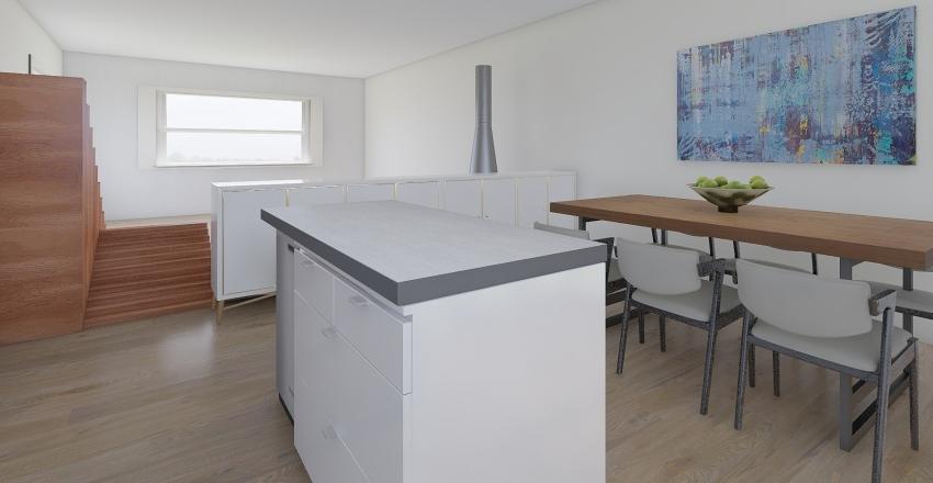 Sant Cugat kookeiland zonder tafel Interior Design Render