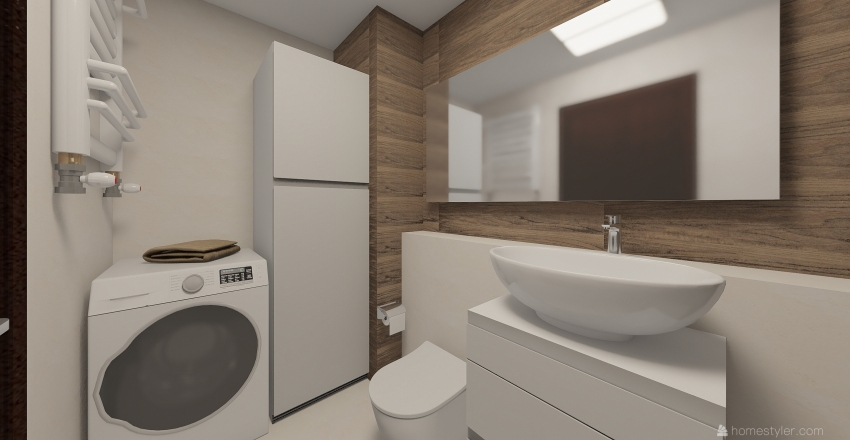 Mieszkanie 51m2 - nowa kuchnia Interior Design Render