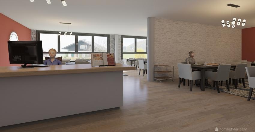 cafeteria  2 Interior Design Render