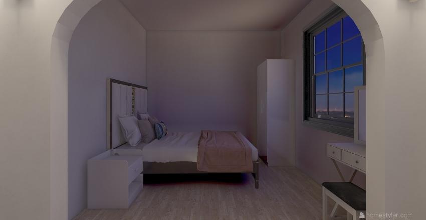 dark night Interior Design Render