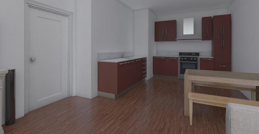 Kitchen Living Room (2) Interior Design Render