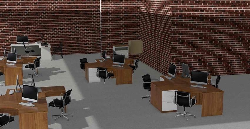 Oficinas/ Area de coworking Interior Design Render