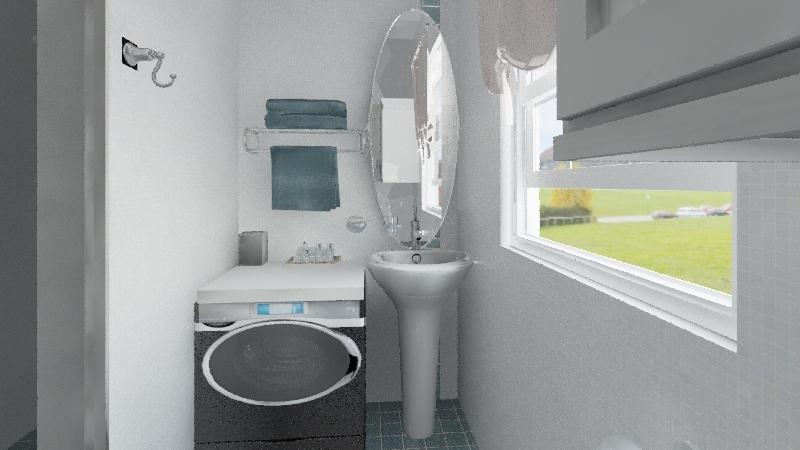 studio flat+mezzanine Interior Design Render