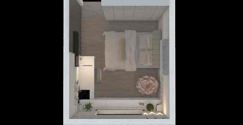 Meu quarto Interior Design Render