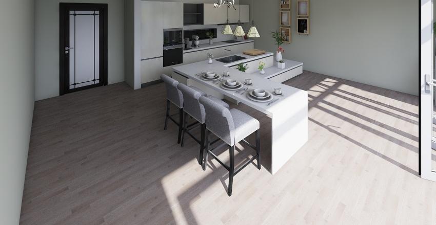 Cocina y Terraza Interior Design Render