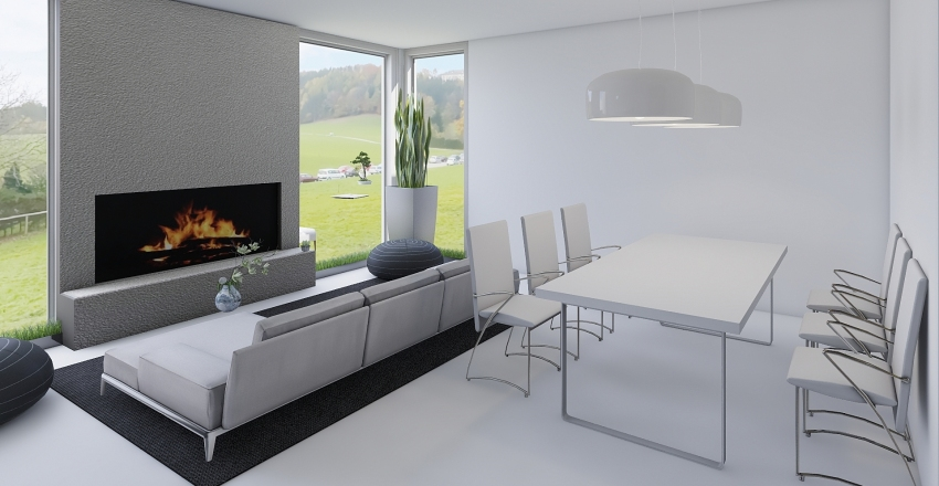 План дома Д/З Interior Design Render