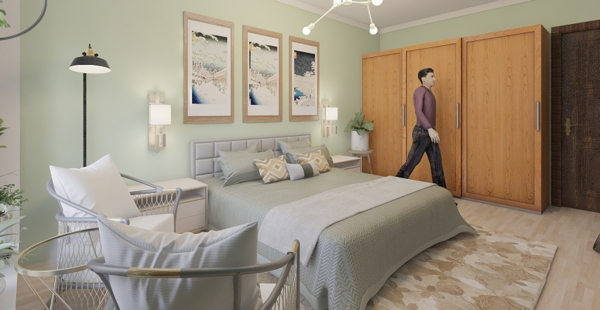 BEDROOM- INTERIOR Interior Design Render