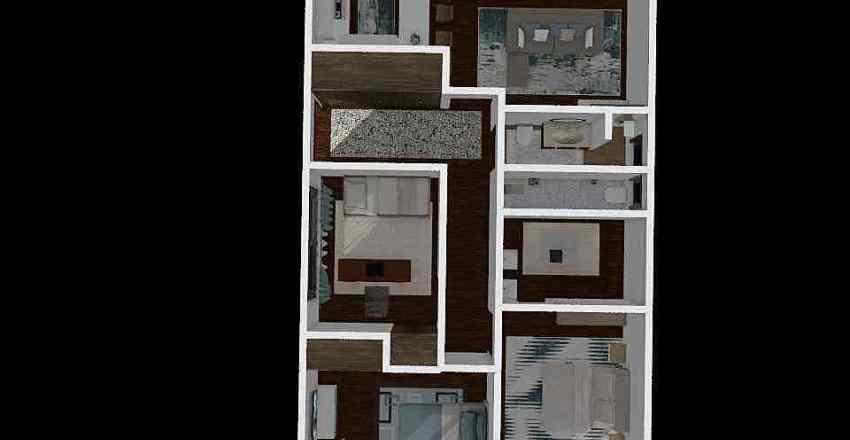 Closet e casa de banho Interior Design Render