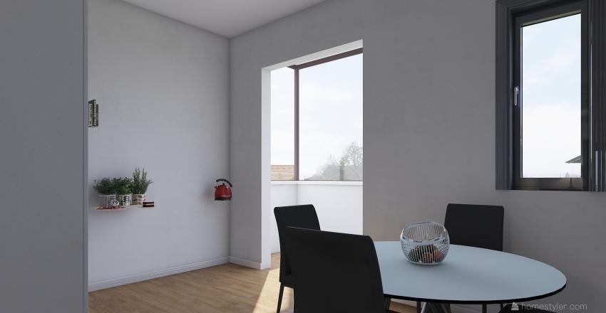 Gambino 2 Salotto Cucina Interior Design Render