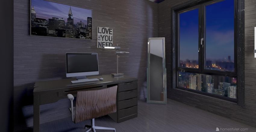 Musician Bedroom Interior Design Render