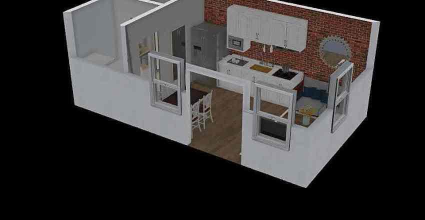 Nabuurs tiny house Interior Design Render