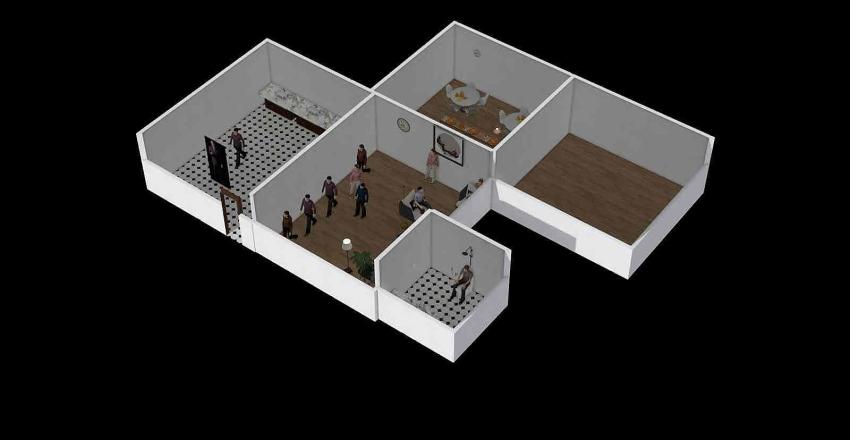 reception Interior Design Render