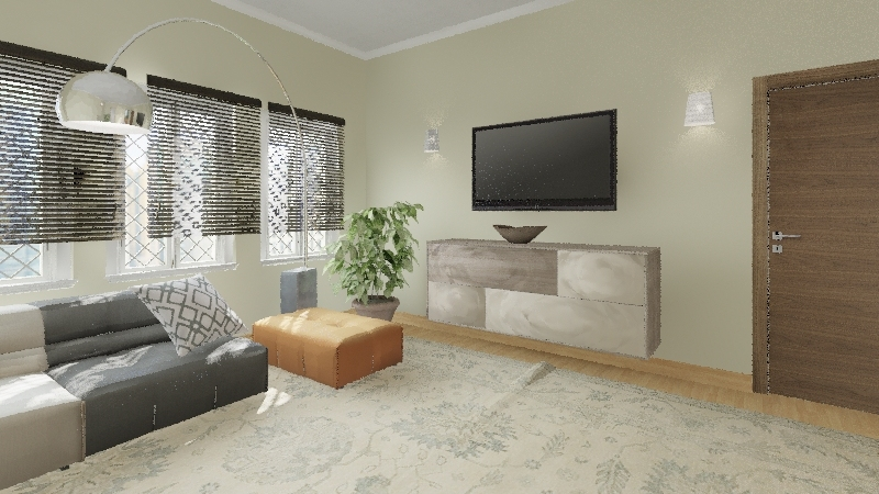 Natural House Interior Design Render