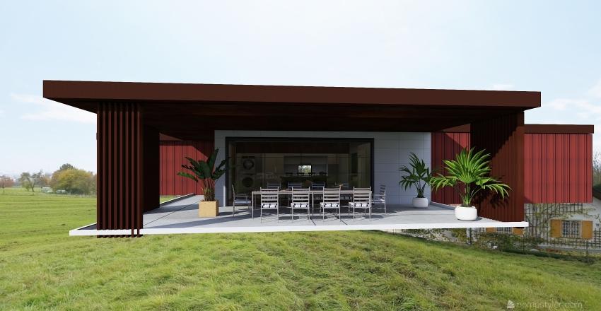 Drax Hall 2.6 Container Villa Interior Design Render