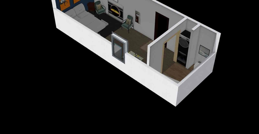 small house project Interior Design Render
