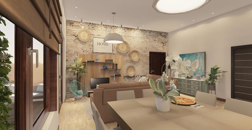 fat stones beach house Interior Design Render