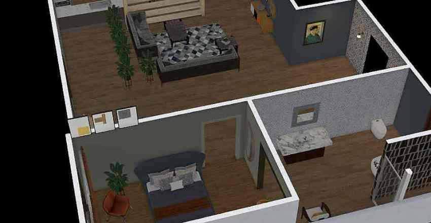 1 дом Interior Design Render