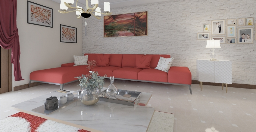 Merry Christmas Interior Design Render