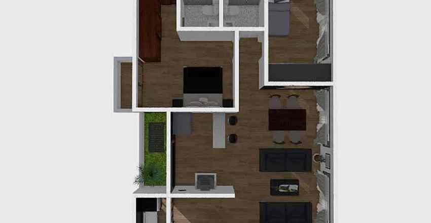 2 Habitaciones Interior Design Render