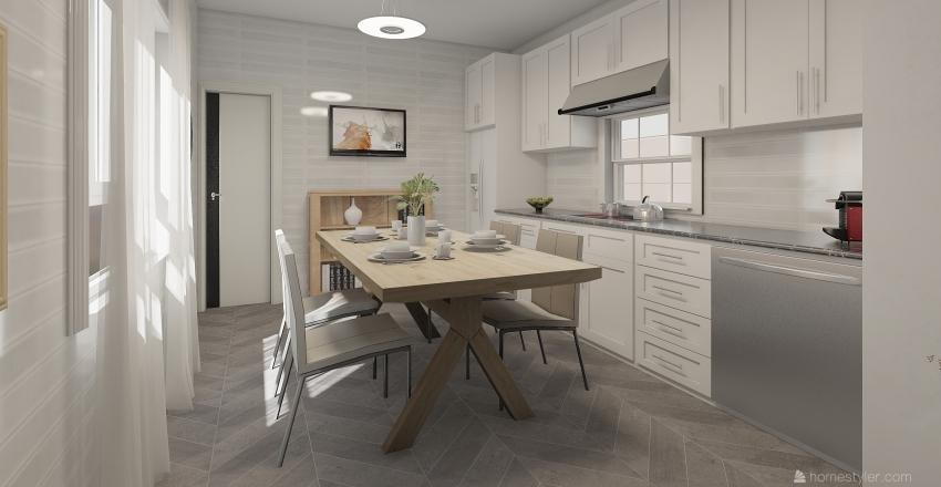 кухня дом Interior Design Render
