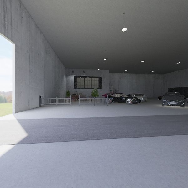 Factory Interior Design Render