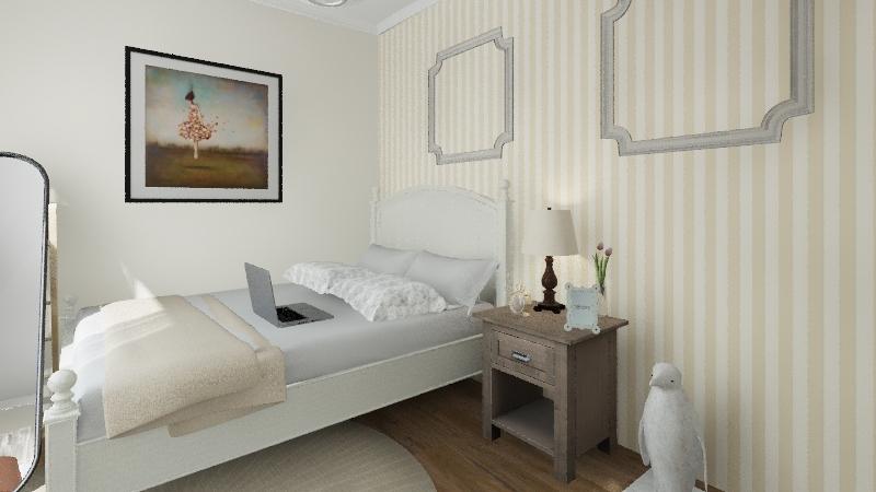 חדר לנערה/ילדה Interior Design Render