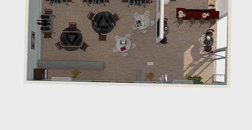 plano de un ciber cafe Interior Design Render