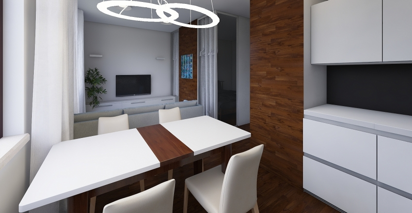 Однокомнатная Москва Interior Design Render