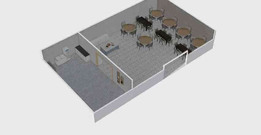 cafe hotel Interior Design Render