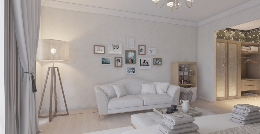 Camera d'albergo (Luxury) Interior Design Render