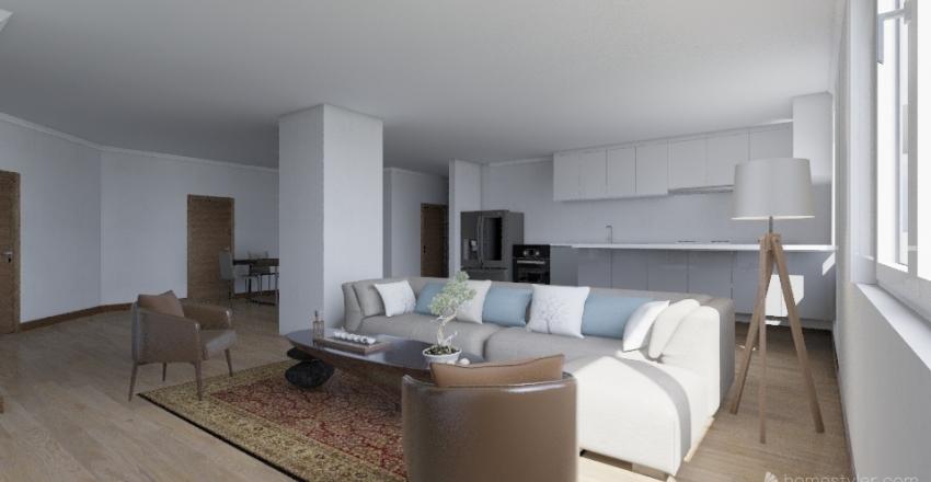 JONQUERES 16, 4A PROYECTO CAMBIO DE USO Interior Design Render